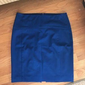 Express Royal Blue Pencil Skirt